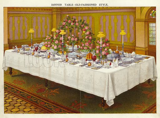 Dinner table – old fashioned style.