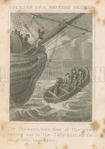 Courage of a British Seaman. Illustration for The Good Child's Reward by Henry Sharpe Horsley (Thomas Kelly, c 1860).