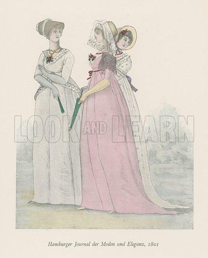 Hamburger Journal der Moden und Eleganz, 1801. Illustration in Modes & Manners of the Nineteenth Century (J M Dent, 1909).