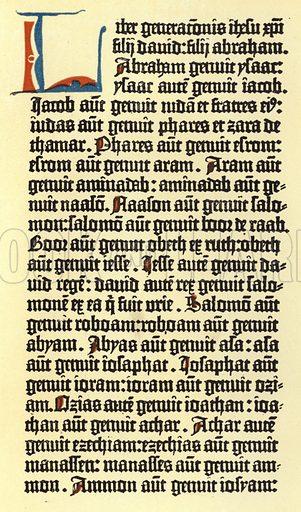 Part of a column of Gutenberg's bible