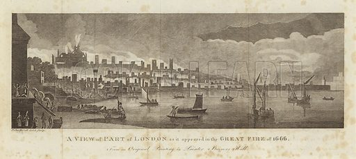 A view of part of London as it appeared in the Great Fire of 1666