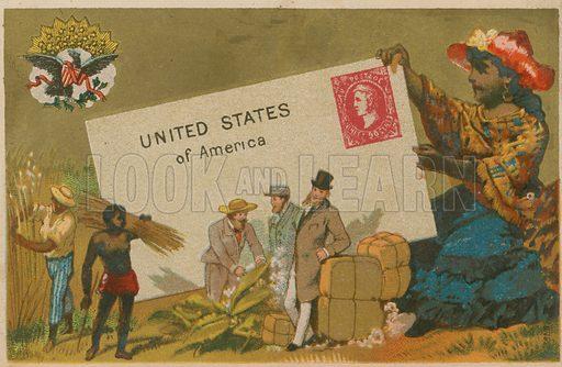 United States of America. Postcard, circa late nighteenth century.