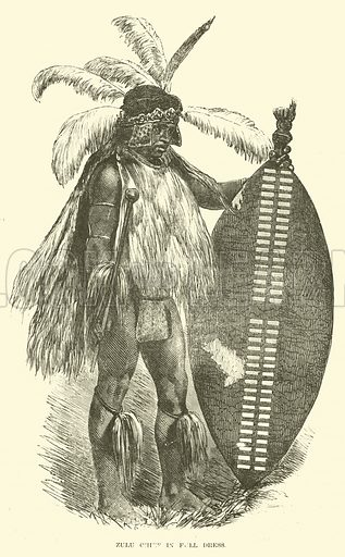 Zulu chief in full dress