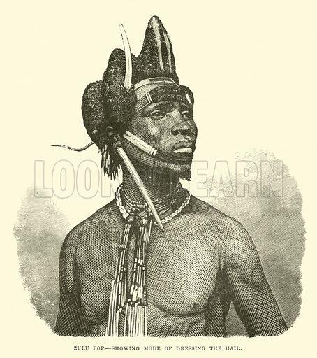 Zulu fop, showing mode of dressing the hair