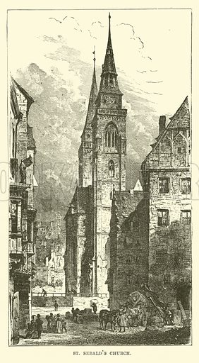 St Sebald's Church. Illustration for The World Its Cities and Peoples by Robert Brown (Cassell, c 1885).