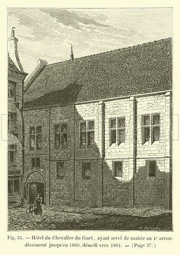 Hotel du Chevalier du Guet, ayant servi de mairie au 4e arrondissement jusqu'en 1860, demoli vers 1864. Illustration for Paris A Travers Les Ages (Firmin-Didot, 1875).