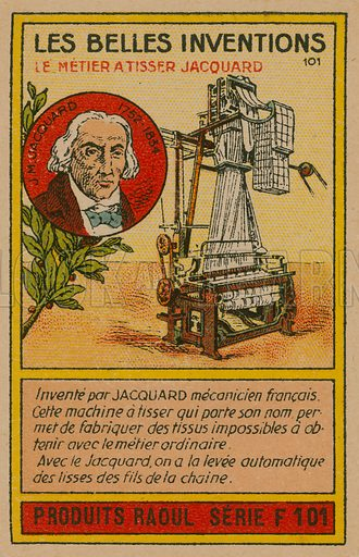Beautiful inventions card, Jacquard loom - Look and Learn
