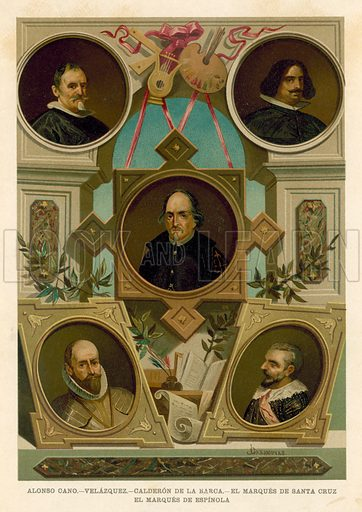 Famous Spanish historical figures of the 17th Century - Look