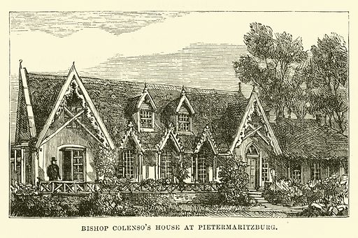 Bishop Colenso's House at Pietermaritzburg. Illustration for Conquests of the Cross, A Record of Missionary Work throughout the World edited by Edwin Hodder (Cassell, c 1890).