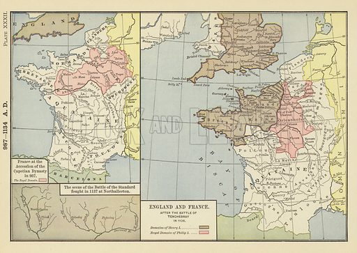 Map France 987.987 1134 Ad France At The Accession Of The Capetian Dynasty In 987