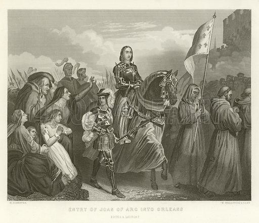 Entry of Joan of Arc into Orleans. A Popular History of France by M Guizot (Dana Estes and Charles E Lauriat, c 1885).
