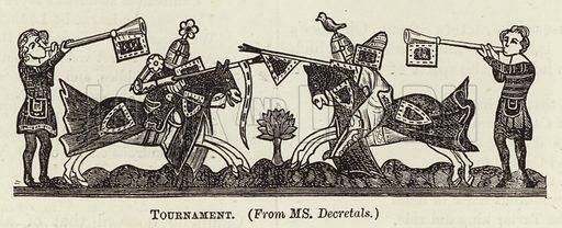 Tournament. Illustration for Longer Works by Henry Morley (Cassell, c 1885).