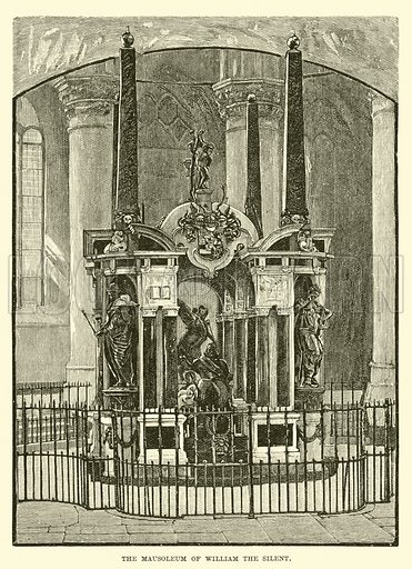 The Mausoleum of William the Silent. Illustration for The World its Cities and Peoples by Edwin Hopper (Cassell, c 1890).