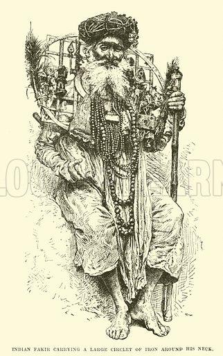 Indian Fakir carrying a large circlet of iron around his neck