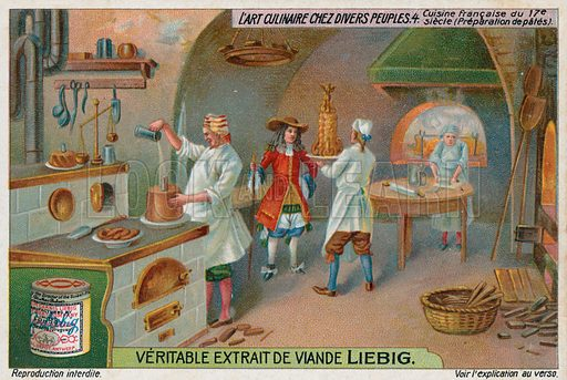 Making pates in a French kitchen, 17th Century