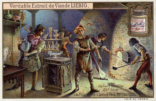 Venetian glass blowers, 14th Century