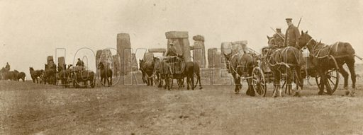 Canadian troops at Stonehenge, World War I