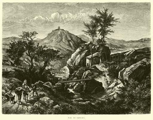 Val di Sangro. Illustration for Italy from the Alps to Mount Etna (Chapman and Hall, 1878).