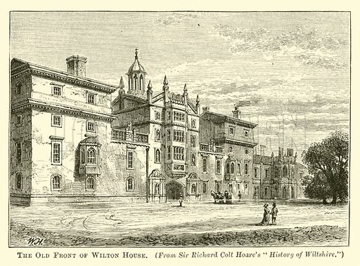 The Old Front of Wilton House - Look and Learn History
