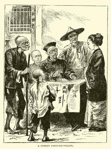 A street fortune-teller