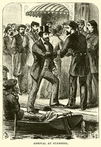 Arrival at Stamboul. Illustration for Around the World with General Grant by John Russell Young (American News Company, 1879).