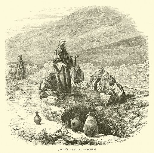 Jacob's Well at Shechem. Illustration for The Life of Christ by FW Farrar (Cassell, 1891).