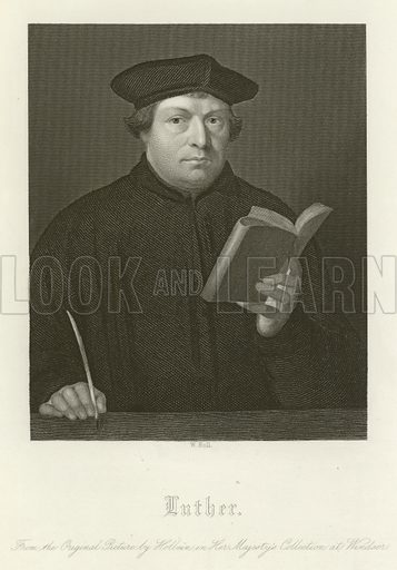 Martin Luther (1483–1546), German priest and theologian. Illustration for The Faiths of the World by James Gardner (Fullarton, c 1880).