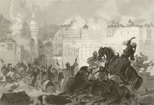 Massacre of the Memlooks, Egypt, 1811. The end of Mamluk power in Egypt. Illustration for History of the World by Evert A Duyckinck (Johnson, Wilson, c 1870.).