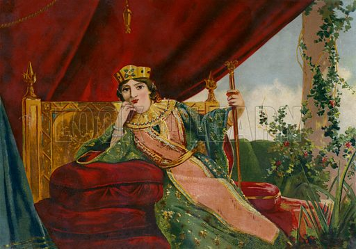 Empress Theodora (c500-548), wife of the Byzantine Emperor Justinian I. Illustration for Historia Universal by Cesar Cantu (J Seix, 1885).
