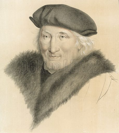 Unidentified portrait by Hans Holbein, from the English Royal Collection