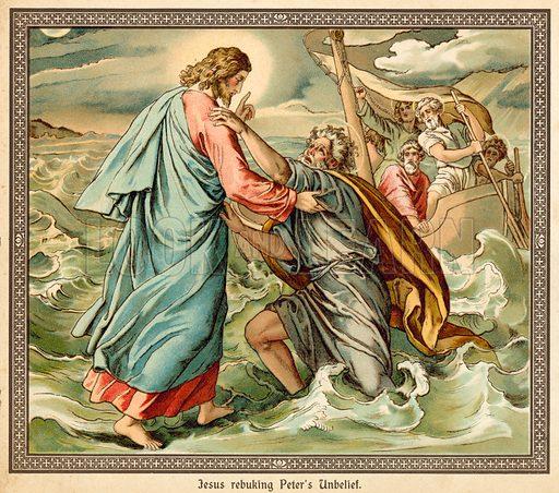 Jesus rebuking Peter's Unbelief