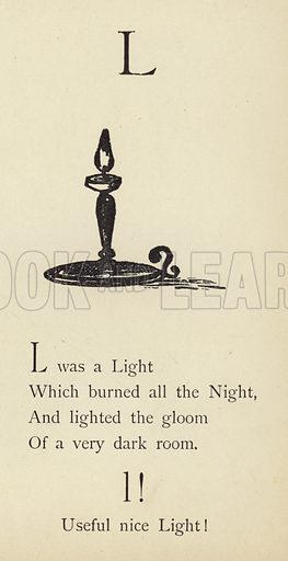 The letter L. Illustration for Nonsense Botany and Nonsense Alphabets (Frederick Warne, c 1890).