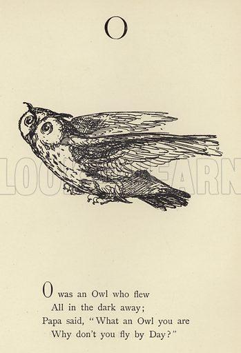 The letter O Illustration for Nonsense Botany and Nonsense Alphabets (Frederick Warne, c 1890).