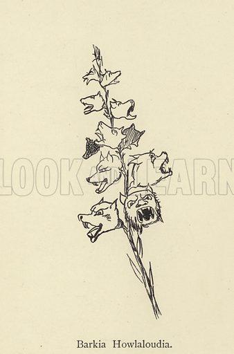 Barkia Howlaloudia. Illustration for Nonsense Botany and Nonsense Alphabets (Frederick Warne, c 1890).