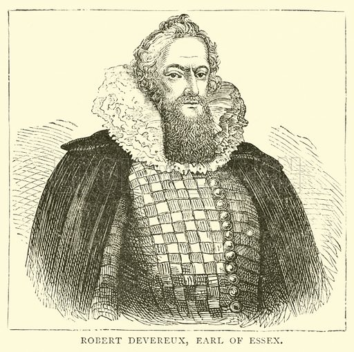 Robert Devereux, Earl of Essex. Illustration for The People