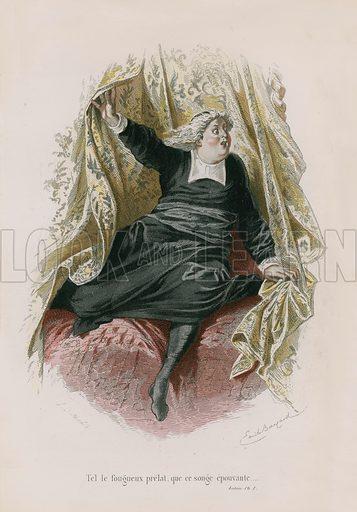 Le Lutrin, Ch I. Illustration for Oeuvres Completes de N Boileau (Laplace, Sanchez, 1873).