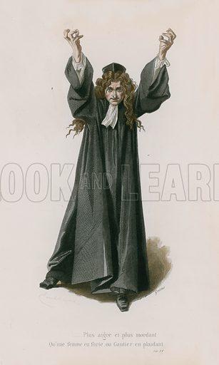 A Son Esprit, Satire X. Illustration for Oeuvres Completes de N Boileau (Laplace, Sanchez, 1873).