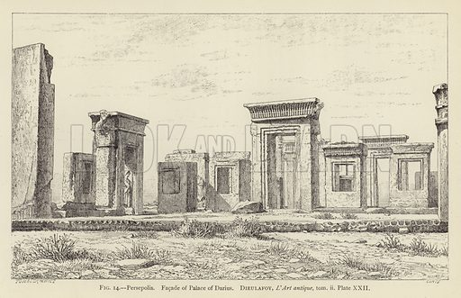 Persepolis Facade Of Palace Of Darius Stock Image Look And Learn
