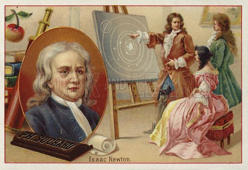 Isaac Newton, picture, image, illustration
