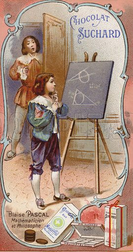 Blaise Pascal, French physicist and mathematician, as a child