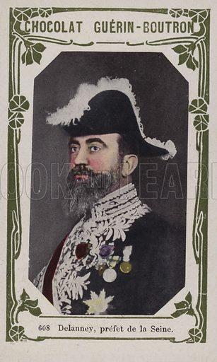 Delanney, prefet de la Seine. French educational card, late 19th/early 20th century.