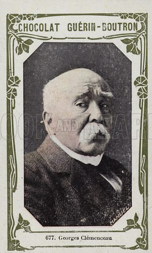 Georges Clemenceau. French educational card, late 19th/early 20th century.