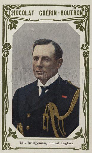 Bridgeman, amiral anglais. French educational card, late 19th/early 20th century.