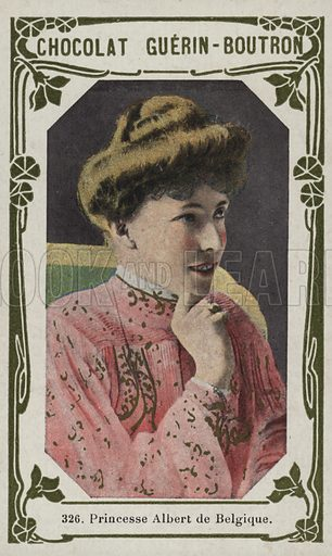 Princesse Albert de Belgique. French educational card, late 19th/early 20th century.