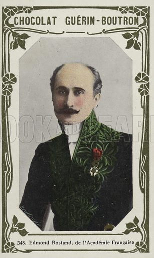 Edmond Rostand, de l'Academie Francaise. French educational card, late 19th/early 20th century.