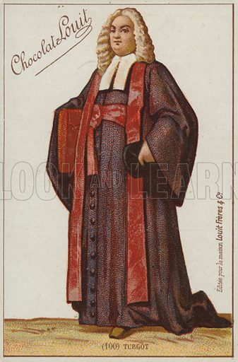 Turgot. French educational card, late 19th/early 20th century.