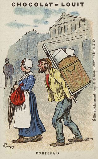 Portefaix. French educational card, late 19th/early 20th century.