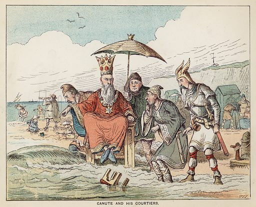 King Canute and his Courtiers
