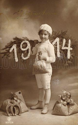 Happy New Year Card, 1914