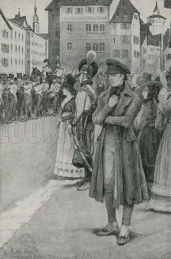 Franz Schubert listens to his music